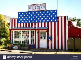 entire office decked. A Post Office In Rural Drytown, CA, Is Decked Out Patriotically The Stars And Stripes Of U.S. Flag. Entire E