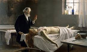 the spanish painter enrique simonet y lombardo in the last year of the nineteenth century produced an admirable canvas showing the anatomic exploration