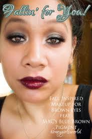 fall inspired makeup using mac blue brown
