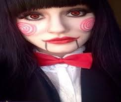female jigsaw makeup idea