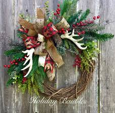 Beautiful Christmas wreath with rustic look. Perfect for your front door!