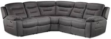 charlotte 3piece power reclining sectional dark grey dark grey sectional e36