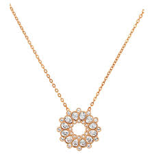 125 swarovski asset fl pendant w crystals gold plated necklace 5048035