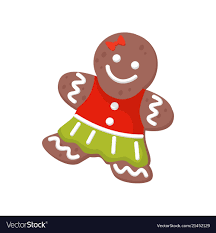 gingerbread woman. Simple Woman Inside Gingerbread Woman E