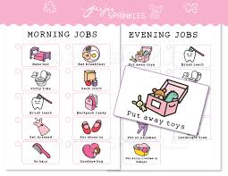 I Can Do It Chart Printable Kids Chore Chart Printable Pink