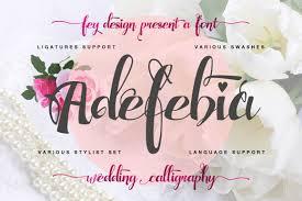 Orchestrating all aspects of your future wedding can be chaotic and exhausting. Adefebia Font By Feydesign Creative Fabrica