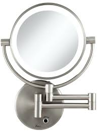 wall mounted makeup mirror. Amazing Magnification Cordless Led Lighted Wall Mount Makeup Mirror Zadro Led15x Spot Mounted