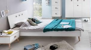 Preiswertes Alpinweißes Bett Im Skandinavischen Design Beano