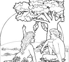 Adam And Eve Coloring Pages For Kids Free Coloring Sheet Adam Eve