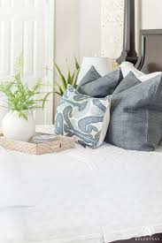 pretty blue and white guest bedroom with design and decor ideas