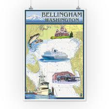 Tide Chart Bellingham Wa Details About Bellingham Wa Nautical Chart Lp Artwork Posters Wood Metal Signs
