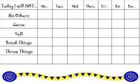 behavior charts for preschoolers template autism behavior charts printable reward chart template depiction
