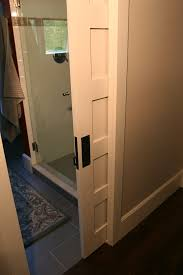 modern pocket door hardware astound bathroom transitional with beadboard ceiling home interior 22