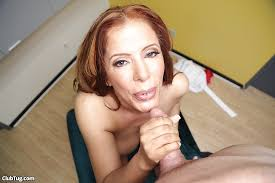 Blow giving job mature redhead woman