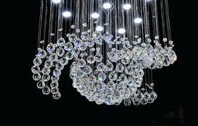 teardrop crystal chandelier drop re led rain antique lamp brushed oak f