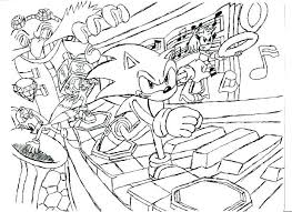 Sonic The Hedgehog Coloring Pages Free At Getdrawingscom Free For