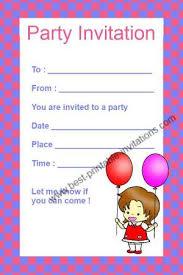 printable kid birthday cards printable kids birthday invitations