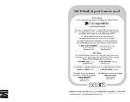 Sears Canada Appliance Repair Kenmore Air Conditioner 40872012 User Guide Manualsonlinecom