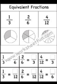 Equivalent Fractions With Pictures Free Printable