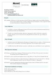 System Engineer Resume System Engineer Resume Example Examples Of