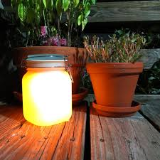 Solar Jars Solar Mason Jar With Yellow Glow And Color Change Option Useful