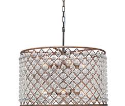 5 light crystal drum chandelier ceiling fixture oil rubbed bronze in crystal drum chandelier decorating