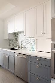 Kitchen Nice Two Tone Kitchen Cabinets With Contemporary Style And