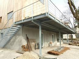 Nivrem Com Terrasse Bois Sur Structure Metallique Diverses