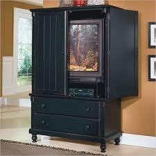 black tv armoire cabinet
