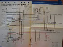 nos yamaha factory wiring diagram 1985 xt350 n xt350 nc image is loading nos yamaha factory wiring diagram 1985 xt350 n