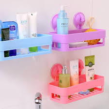 pink and blue bathroom accessories. 100% new wall sucker bathroom racks pp plastic shelves storage accessories pink / purple green blue-in from home improvement and blue n