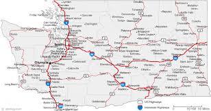 map of Washington cities map of washington