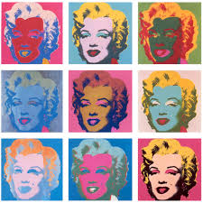 this is titled marilyn done in 1967 by andy warhol through marilyn monroe andy warhol wanted to create her as a ual archetype and show the obsession