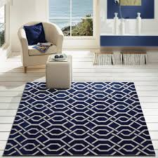 navy blue area rug elegant modern contemporary bedroom addiction