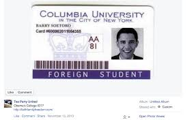 Was Foreign A Columbia At University Politifact Barack Obama College Does Id Student No Show Not