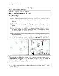 Reading Comprehension Scope And Sequence Chart Strategy Area Strategy Appropriate Grade Level