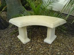 make a curved outdoor bench