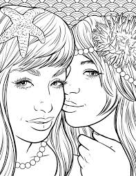 Makeup Coloring Pages Pretty Mermaids Page By Art Ayushseminarmaha