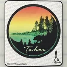 lake tahoe scenic sticker by vinyljacks on etsy