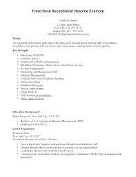Medical Receptionist Skills Receptionist Objective Resume Medical