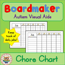 Chore Charts Boardmaker Visual Aids For Autism Sped