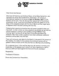 Memo To Board Of Directors Grove Isle Condominium Association Board Grove Isle 78
