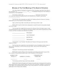Sample Corporate Minutes Template Meeting Minutes Template Creative