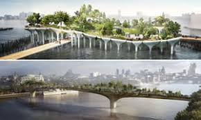 Small Picture Garden Bridge v Pier 55 why do New York and London think so