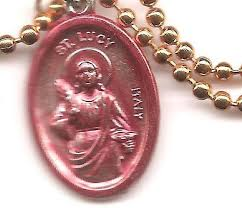 eyes st lucy patron saint medal on