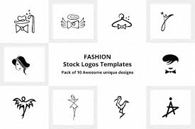 Templates For Logo Fashion Stock Logo Templates Pack Of 10 Awesome Unique Designs