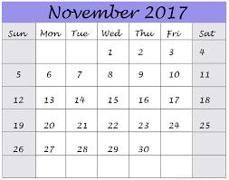 november 2017 printable calendar templates printable calendar