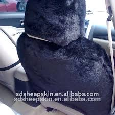 black fur seat covers patch work sheepskin car seat cover airbag black black faux fur car
