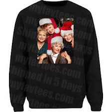 Golden Girls Ugly Christmas Sweater T Shirt $21.99 Free Shipping myfavt