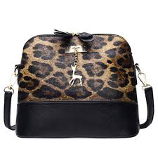 Designer Messenger Bags Fashion Leopard Print Shoulder Bags Luxury Women Handbags Designer Messenger Bag Fawn Pendant Shell Crossbody Bag Bolsa Feminina